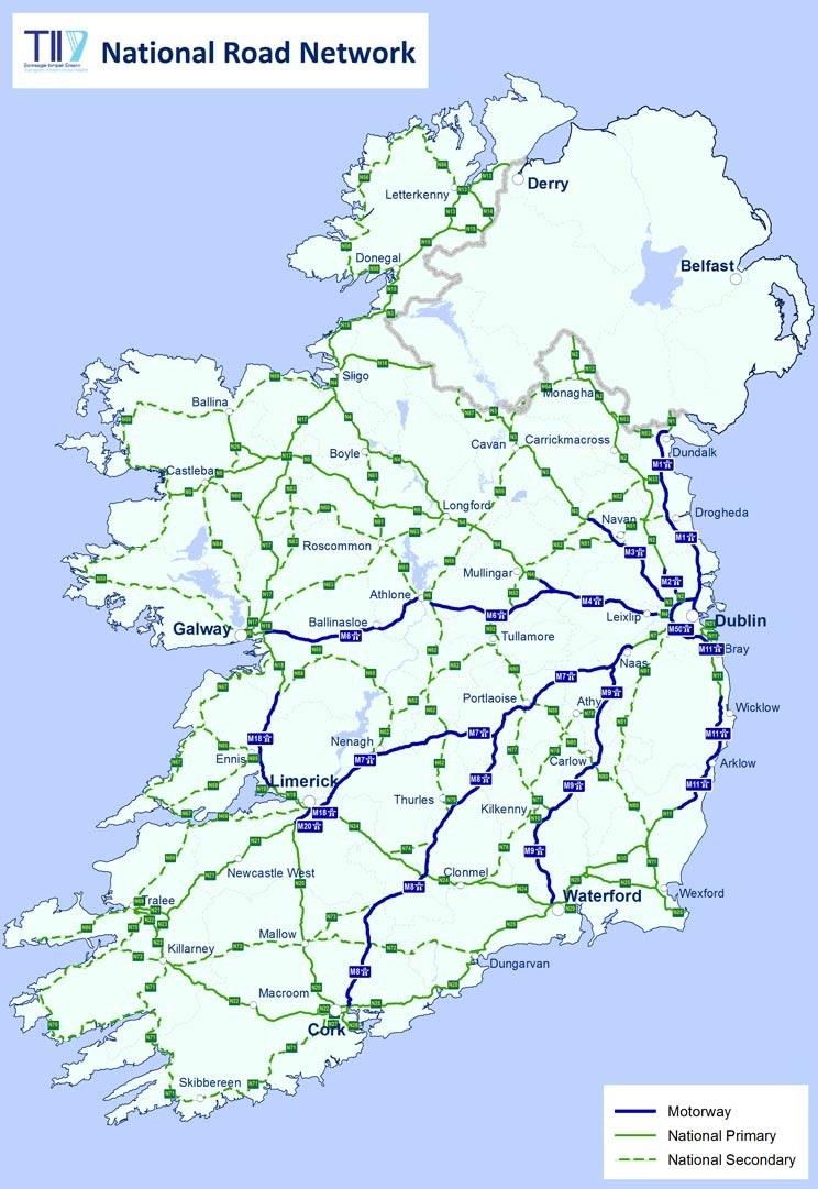 Las carreteras de Irlanda  GMR  Grupo Mundo en Red