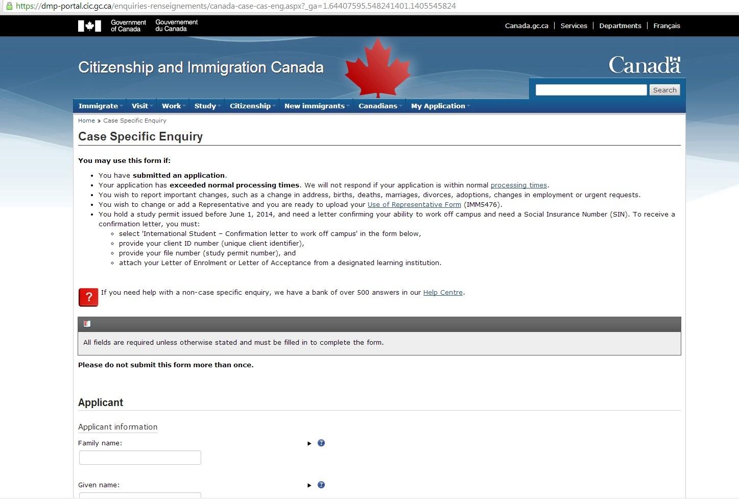 Instrucciones para solicitar trabajar en Canadá